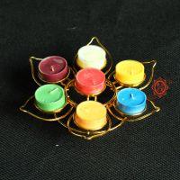 高級圓盤單層七星梅花型酥油燈座