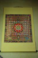 唐密胎藏界曼荼羅唐卡(73*81公分)裱褙83*122公分
