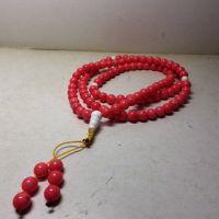 紅珊瑚108念珠8mm純天然礦石
